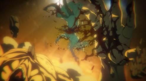 eren transforme dans shingeki No kyojin Saison 4 Episode 7