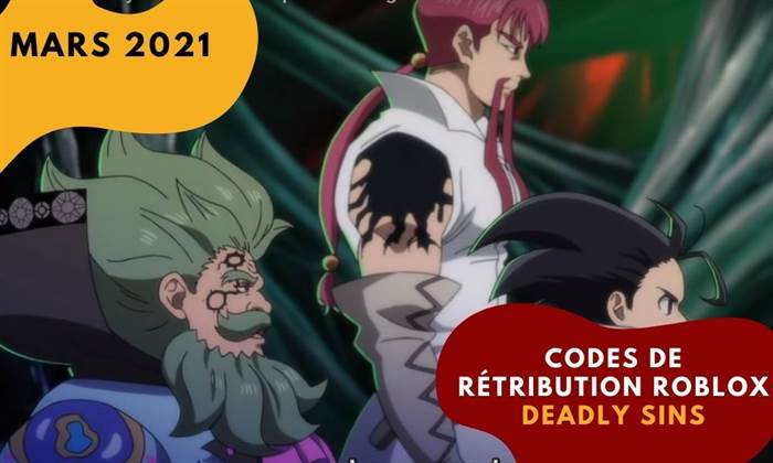 Codes de rétribution Roblox Deadly Sins