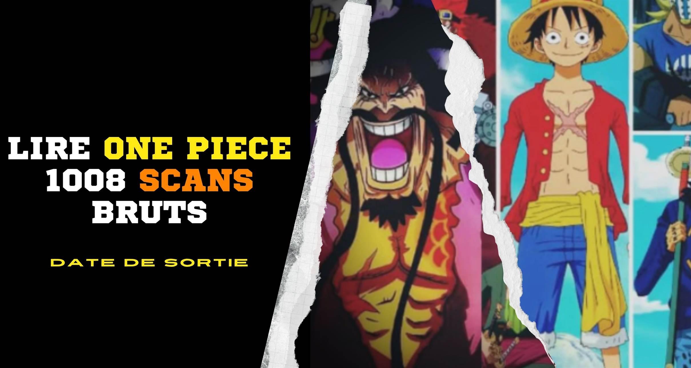 Lire One Piece 1008 Scans bruts