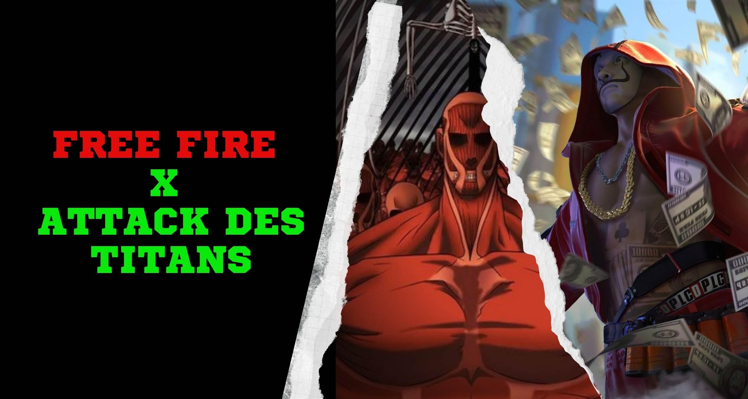Free Fire X Attaque des Titans
